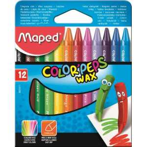 Мелки восковые COLOR PEPS Wax Crayons, 12 цветов