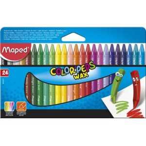 Мелки восковые COLOR PEPS Wax Crayons, 24 цветов