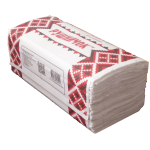 """Полотенца бумажные """"Рушничок"""", 2 слоя 160шт."""