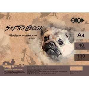 461/5000 Sketchbuk A4, 40 listov, kremoviy blok 100 g/m2, ZB.1483 • Format al'boma: A4. • Kol-vo listov: 40.  • Plotnost' bumagi vnutrennego bloka : 100 g/m2. • Tip krepleniya – pruzhina. Kupit' sketchbuk A4, 40 listov, kremoviy blok 100 g/m2, ZB.1483 - F