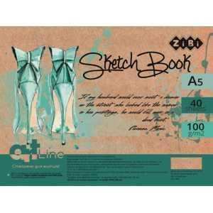 Скетчбук А5, 40 листов, кремовый блок 100 г/м2, ZB.1489