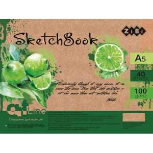 Скетчбук А5, 40 листов, кремовый блок 100 г/м2, ZB.1491