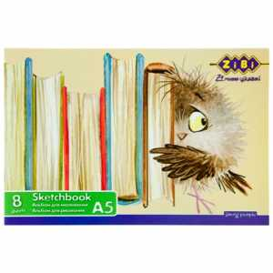 Альбом для рисования А5, 8 листов