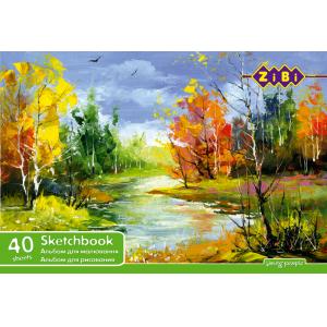 Альбом для рисования 40 листов ZiBi