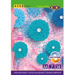 Набор двухсторонней цветной бумаги А4 формата