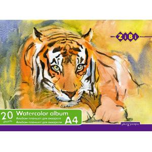 Альбом-планшет для акварели А4, 20 листов, 200г/м ZiBi