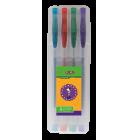 Набор: 4 ручки гелевые GLITTER с блестками