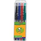 Набор: 4 ручки гелевые Zibi