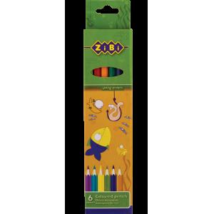 Карандаши цветные Zibi Standart, 6 цветов