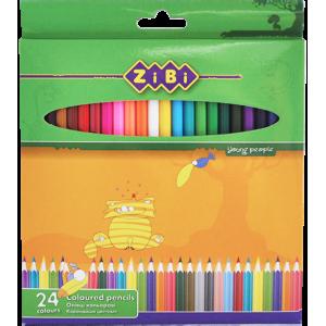 Карандаши цветные Zibi Standart, 24 цвета