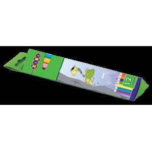 Карандаши цветные трехгранные Zibi Comfort,  12 цветов