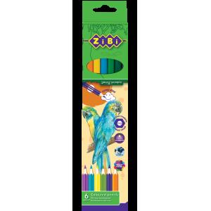 Карандаши цветные Zibi Soft, 6 цветов