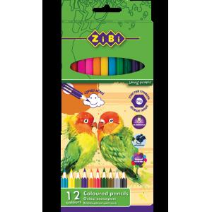 Карандаши цветные Zibi Soft, 12 цветов