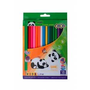 Карандаши цветные, 18 цветов, KIDS LINE