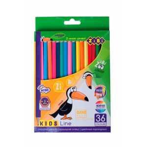 Карандаши цветные, 36 цветов, KIDS LINE