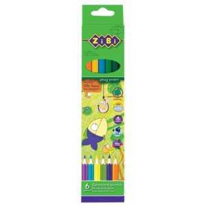 Карандаши цветные PROTECT, 6 цветов