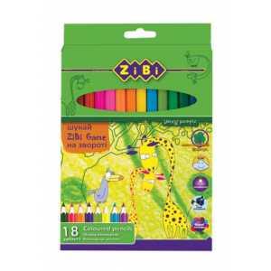 Карандаши цветные PROTECT, 18 цветов
