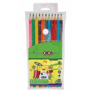 Карандаши цветные PROTECT в пенале, 12 цветов
