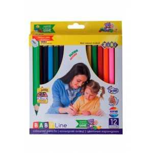 Карандаши цветные mini JUMBO, 12цв., с точилкой, BABY Line