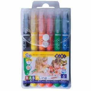 Пастель масляная шелковая с акварельным эффектом, 6 цветов, BABY Line