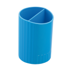 Стакан для ручок пластмасовий синій (ZB.3000-02)