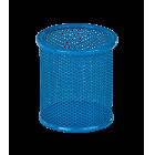 Подставка для ручек круглая  90х90х100мм, синяя