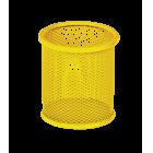 Подставка для ручек круглая  90х90х100мм, желтая