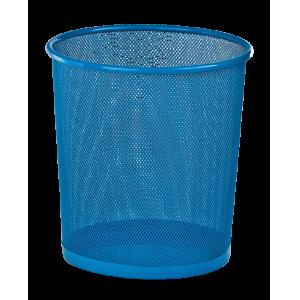 Корзина для бумаг Zibi 295x295x280мм, метал., синяя