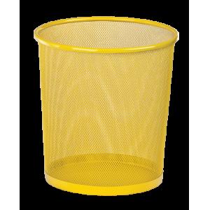 Корзина для бумаг Zibi 295x295x280мм, метал., желтая