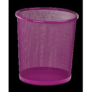 Корзина для бумаг Zibi 295x295x280мм, метал., розовая
