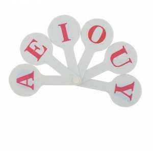 Набір букв (віяло), англійський алфавіт