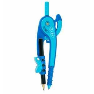 Циркуль пластиковый со шкалой в блистере, фиолетово-голубой