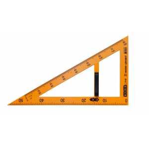 Угольник TEACHER 90°/60° для школьной доски 50 см, желтый