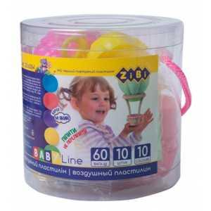 Воздушный пластилин 10 шт, BABY Line