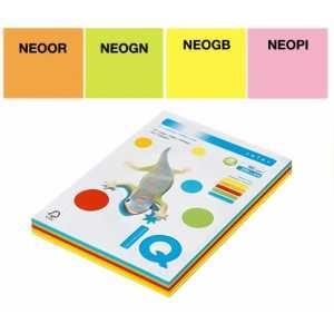 Набор цветной бумаги IQ Color, А4/80 (5х50/250л.), RB04