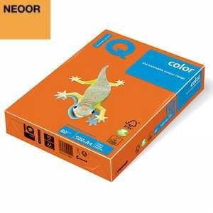 Бумага цветная IQ Color, А4/80, 500л.  NEOOR, оранжевый