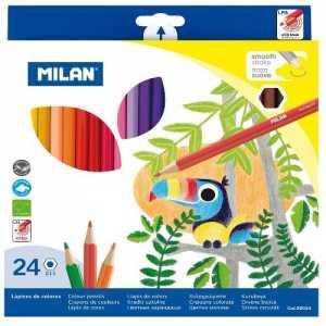 Карандаши цветные, 24 цветов, MILAN